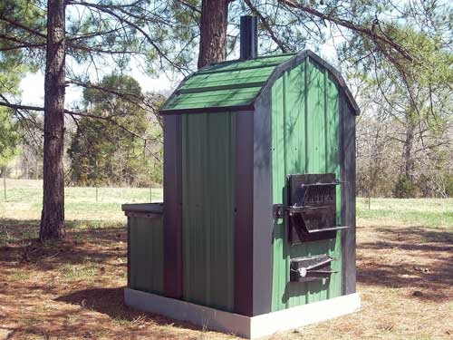 waterless forced air wood furnace