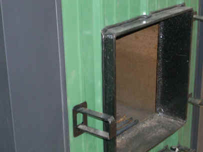 Outdoor Wood Burning Boiler Door