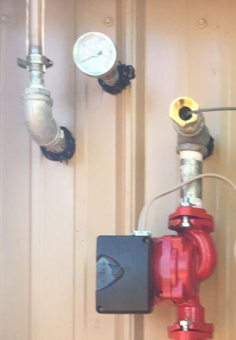 wood boiiler pump installed