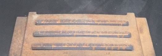 cast iron grates wood / coal boiiler