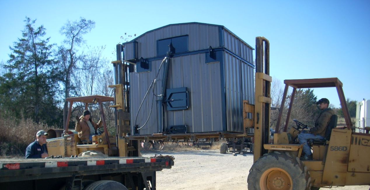 Log Boiler being Loaded for Shipping