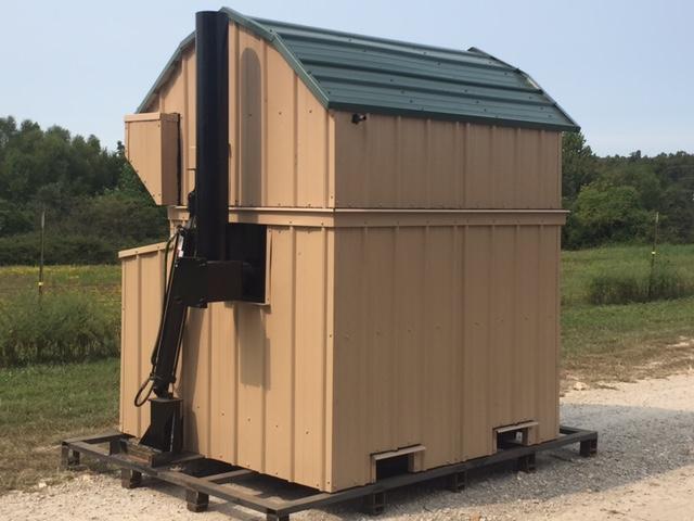 top loading equipment loading  wood boiler
