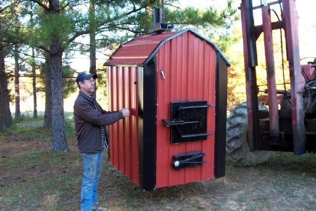 Hanging Outdoor Wood Burning Furnace