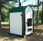 Outdoor wood furnace boiler